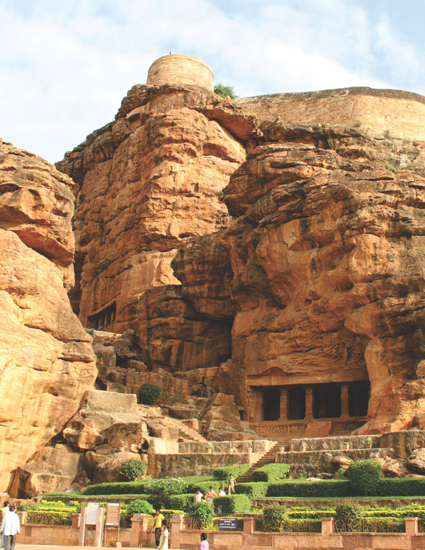 Badami cave temples, Bagalkot