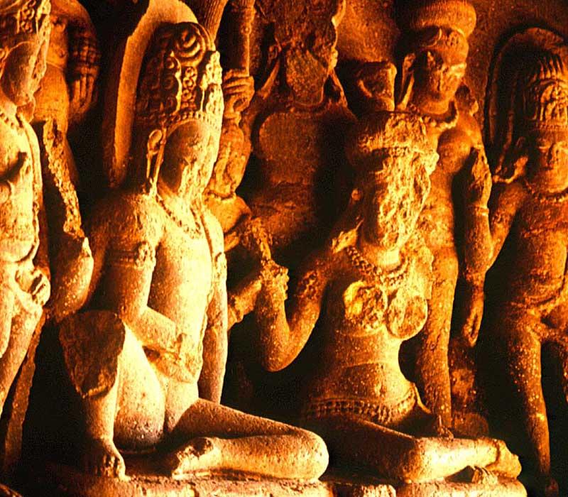 Sculptures of ellora caves