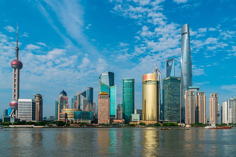 shanghai bund china city architecture
