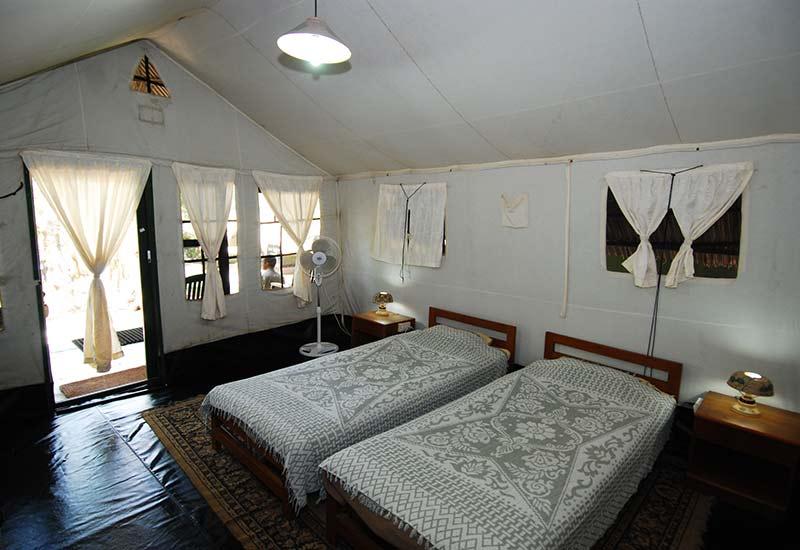 tent inside Kabini